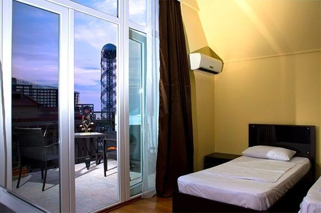 Batumi Mgzavrebi Standard twin room with terrace and city view