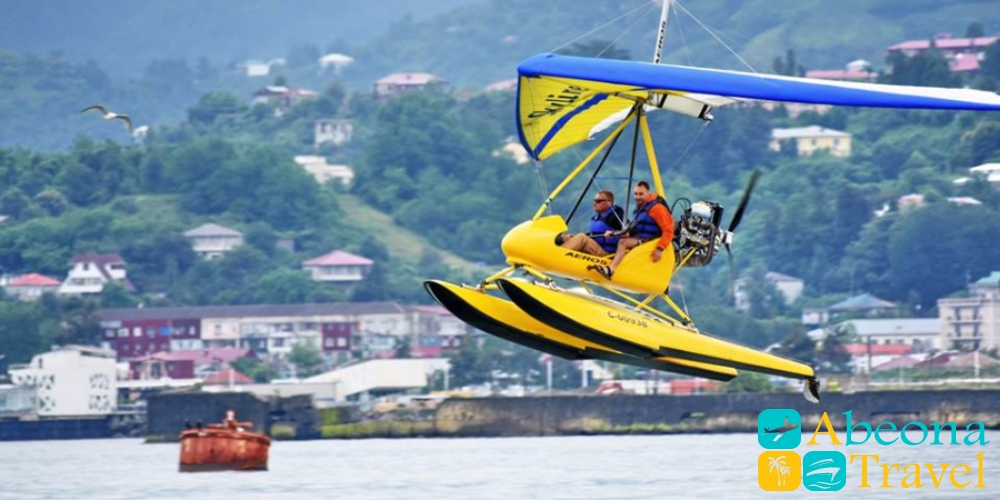 Paraplane flights in Batumi