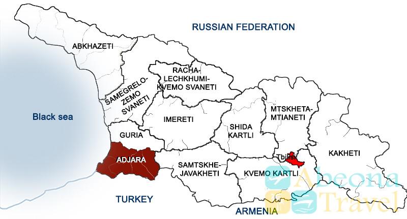 georgia adjara map en